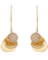 Ryan Storer - Sansevieria Gold Plated Earrings - Lyst