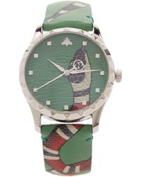Gucci - G Timeless Tiger Face Watch - Lyst