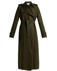 Harris Wharf London - Layered Wool Trench Coat - Lyst