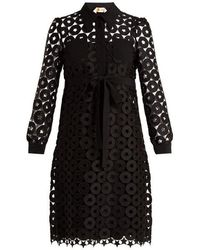 N°21 - Embroidered-lace Shirtdress - Lyst