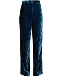Jupe by Jackie - Moritz Embroidered Silk Velvet Trousers - Lyst