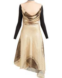 Marine Serre - Layered Silk Blend Dress - Lyst
