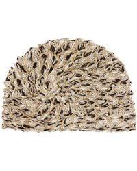 Missoni Knotted Metallic Mesh Turban Hat
