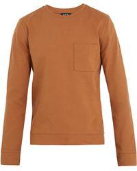 A.P.C. - Crew-neck Cotton-jersey Sweatshirt - Lyst
