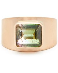 Irene Neuwirth - 18kt Brushed Rose Gold & Tourmaline Ring - Lyst