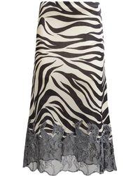 Chloé - Zebra Print Horse Embroidered Skirt - Lyst