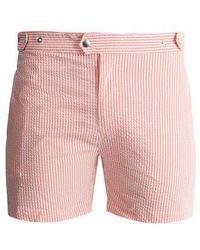 Solid & Striped - The Kennedy Striped Seersucker Swim Shorts - Lyst