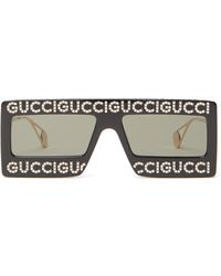 Gucci Hollywood Forever Rectangle Acetate Sunglasses