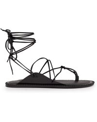 Ann Demeulemeester - Wrap Around Leather Sandals - Lyst