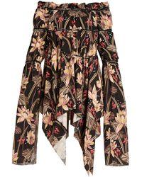 Loewe - X Paula's Ibiza Floral-print Mini Dress - Lyst