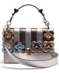 Fendi - Kan I Flower-appliqué Leather Shoulder Bag - Lyst ca76b22ba6e03