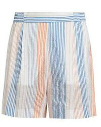 Stella McCartney - Striped Wide-leg Shorts - Lyst