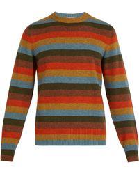 Bottega Veneta - Striped Cashmere Blend Jumper - Lyst