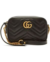 22e7852a4d9d2a Gucci Gg Marmont Small Quilted-leather Cross-body Bag in Pink - Lyst