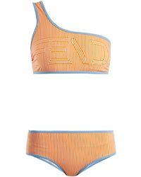 Fendi - Striped One-shoulder Bikini Set - Lyst