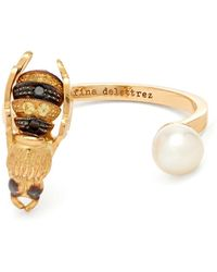 Delfina Delettrez - Diamond, Pearl & Yellow-gold Ring - Lyst