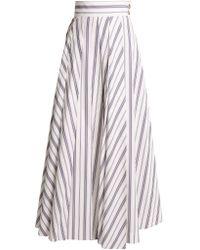 Awake - Striped Cotton Maxi Skirt - Lyst