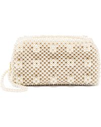 Shrimps - Molly Faux Pearl Embellished Clutch Bag - Lyst
