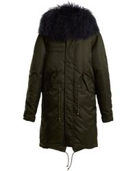 Mr & Mrs Italy - Mongolian-fur Trimmed Hooded Shell Coat - Lyst