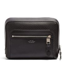 Smythson - Greenwich Leather Washbag - Lyst