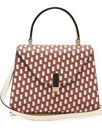 Valextra - Iside Mini Geometric Print Leather Bag - Lyst
