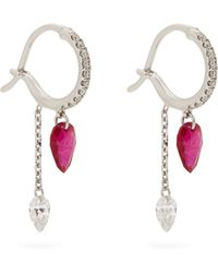 Raphaele Canot - Set Free Diamond, Ruby & White-gold Earrings - Lyst