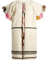 Apiece Apart - Nazca Embellished Cotton And Wool-blend Coat - Lyst