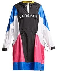 Versace - Logo Hooded Technical Jacket - Lyst