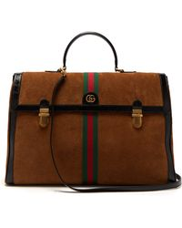Gucci - Ophidia Suede And Patent Leather Holdall - Lyst