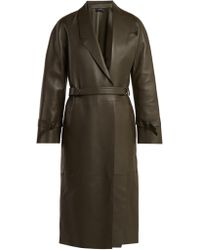 JOSEPH - Solferino Belted Leather Coat - Lyst