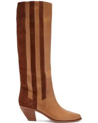 Golden Goose Deluxe Brand - Nebbia Panelled Leather Boots - Lyst