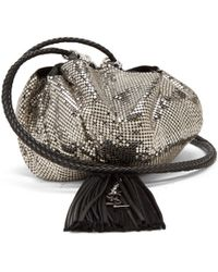 Saint Laurent - Mansour Chainmail Clutch - Lyst