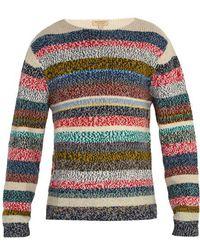 Burberry - Striped Merino Wool Jumper - Lyst