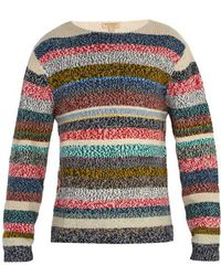 Burberry - Striped Merino Wool Sweater - Lyst
