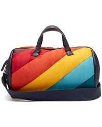 Anya Hindmarch - Chubby Barrel Quilted Stripe Travel Bag - Lyst