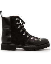 Grenson - Brady Leather And Suede Boots - Lyst