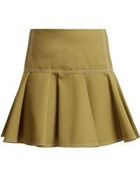 Chloé - Mid Rise Wool Blend Skirt - Lyst