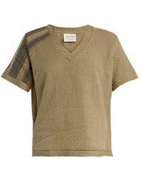 Cecilie Copenhagen - Villablack Scarf-jacquard A-line Cotton Top - Lyst
