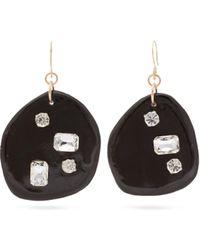 bb3cf6b76 Sonia Boyajian - Harley Crystal Embellished Ceramic Drop Earrings - Lyst