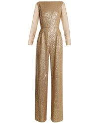 Azzaro - Anja Sequin-embellished Jumpsuit - Lyst