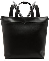 Valextra - - Grained Leather Backpack - Mens - Black - Lyst