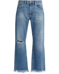 Raey - Max Asymmetric-hem Wide-leg Jeans - Lyst