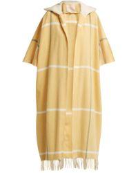 ROKSANDA - Leisha Hooded Checked Wool Coat - Lyst