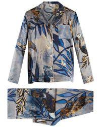 Morpho + Luna - Ines Reunion-print Silk-satin Pyjama Set - Lyst
