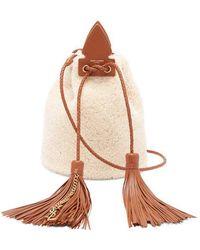 Saint Laurent - Anja Small Shearling Bucket Bag - Lyst