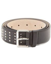 Valentino - Rockstud Grained-leather Belt - Lyst