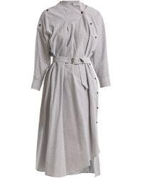 Rachel Comey - Welcome Asymmetric Detail Striped Cotton Dress - Lyst