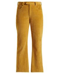 Isabel Marant - Mereo Kick Flare Corduroy Cropped Trousers - Lyst