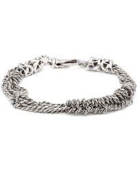 Emanuele Bicocchi - Triple Knot Sterling Silver Bracelet - Lyst