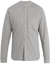 Oliver Spencer - Broadstone Grandad-collar Striped Cotton Shirt - Lyst
